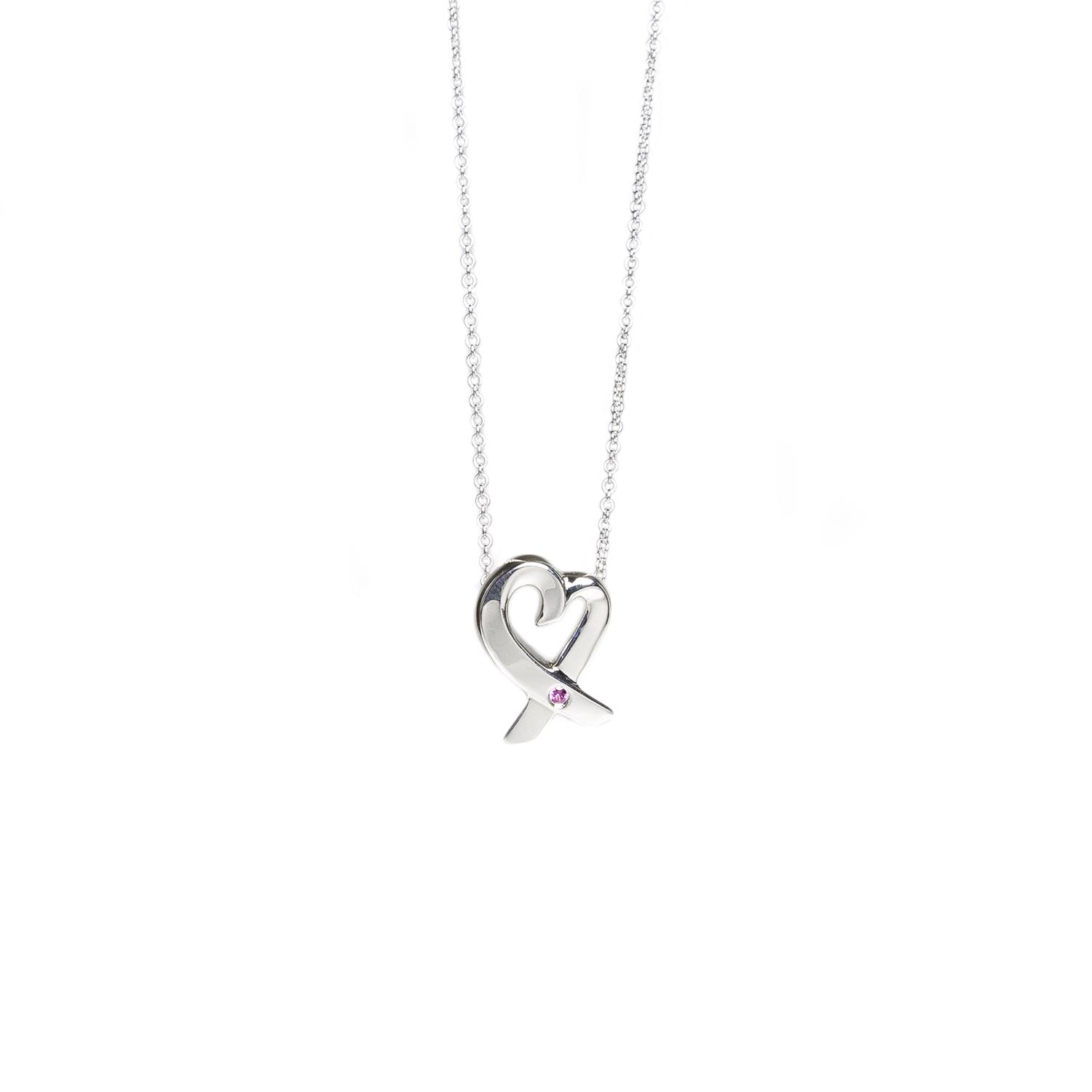 tiffany amp co silver paloma picasso loving heart pink