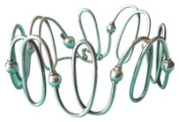Tiffany & Co. RARE Tiffany & Co.Silver Wide Spiral Wire Flex Beads Bracelet POUCH!!