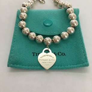 Tiffany & Co. Silver Return To Tiffany Heart Charm 8mm Bead 7.5