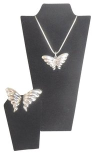 Tiffany & Co. T&Co Butterfly Motif Pendant and Earring Set
