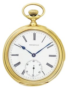 Tiffany & Co. Tiffany & Co 18K Gold Openface Five Minute Repeating Keyless Lever Pocket Watch