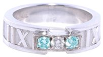 Tiffany & Co. TIFFANY & CO 18k White Gold Diamond Atlas Ring