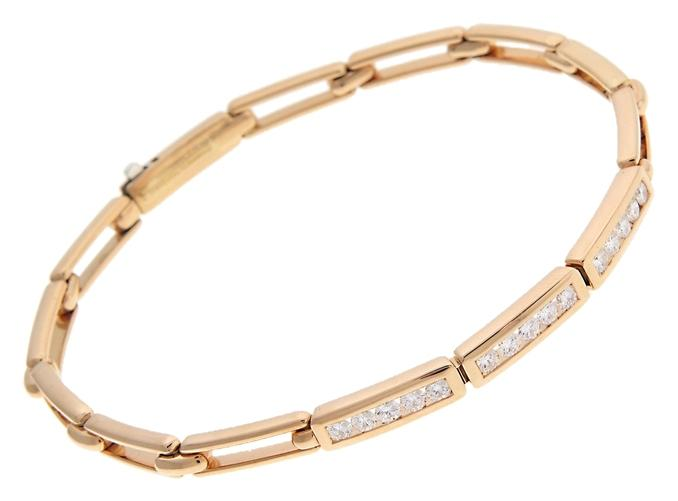 Tiffany & Co 18k Yello Gold Diamond Channel Bracelet Tradesy