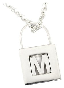 Tiffany & Co. TIFFANY & CO 925 Sterling Silver initial Pendants Necklace