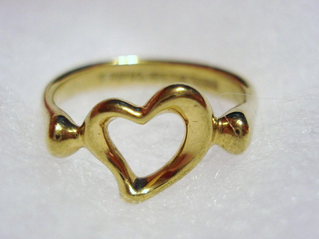 Tiffany & Co Gold Co Elsa Peretti Solid 750 18k 18kt Open Heart