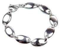Tiffany & Co. Tiffany & Co Heavy Italian Oval Pebble Link Bracelet 7.5