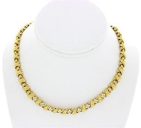 Tiffany & Co. Tiffany Co. 18k Yellow Gold Diamond X 1.10 Ctw Necklace