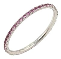 Tiffany & Co. Tiffany Co. Metro Pink Sapphire 18k White Gold Band Ring -