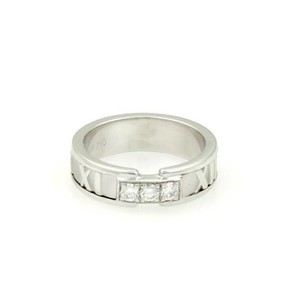 Tiffany & Co. Tiffany Co. 18kt Gold Three Diamond Atlas Roman Numeral Bandring 5.25