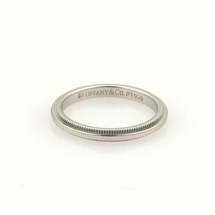 Tiffany & Co. Tiffany Co. Platinum Double Milgrain 2mm Wide Wedding Band Ring