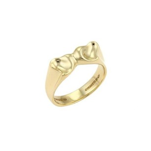 Tiffany & Co. Tiffany Co. Peretti Double Curved Full Heart Ring In 18k Yellow Gold