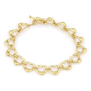 Tiffany & Co. Tiffany Co. Peretti 18k Yellow Gold Open Heart Link Toggle Bracelet