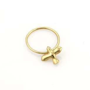 Tiffany & Co. Tiffany Co. 18k Yellow Gold Dove Drop Charm Band Ring-