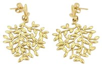 Tiffany & Co. Tiffany Co. Paloma Picasso Olive Leaf Dangle Earrings In 18k Yellow Gold