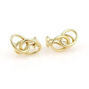 Tiffany & Co. Tiffany Co. Peretti 18k Yellow Gold Double Loop Designer Earrings