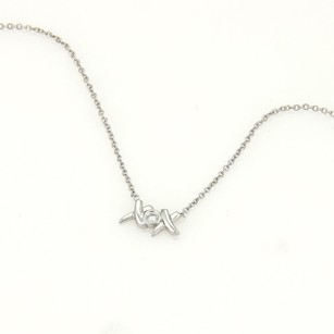 Tiffany & Co. Tiffany Co. Paloma Picasso Xox Diamond Pendant Necklace In 18k White Gold