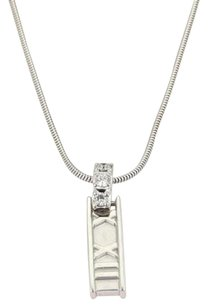 Tiffany & Co. Tiffany Co. Atlas Diamond Roman Numeral Bar Pendant Necklace In 18k White Gold