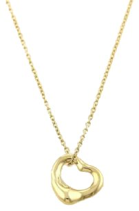 Tiffany & Co. Tiffany Co. Elsa Peretti Mini Open Heart Pendant In 18k Yellow Gold