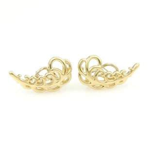 Tiffany & Co. Tiffany Co. Paloma Picasso 18k Yellow Gold Fern Leaf Design Stud Earrings
