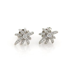 Tiffany & Co. Tiffany Co. Fireworks Diamond Platinum Stud Earrings