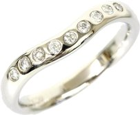 Tiffany & Co. Tiffany & Co Pt950 Platinium Wide Curved 9p Diamond Ring US Size 5