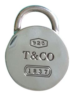 Tiffany & Co. Tiffany & Co sterling silver round lock pendant/charm NOT opens