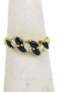 Tiffany & Co. Tiffany Co. 1.20ct Diamonds Sapphire 18k Yellow Gold Band Ring