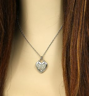 Tiffany & Co. Tiffany Co. 18k White Gold .20ct. Diamond Heart Pendant Chain Necklace