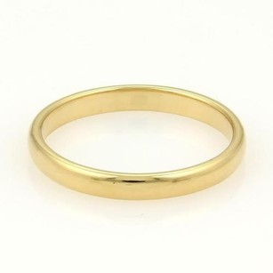 Tiffany & Co. Tiffany Co. 18k Yellow Gold 3mm Wide Plain Wedding Band Ring