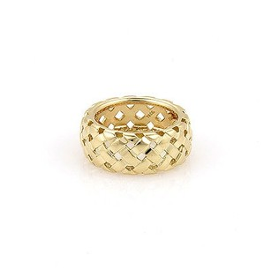 Tiffany & Co. Tiffany Co. 18k Yellow Gold 9mm Vannerie Basket Woven Ring -