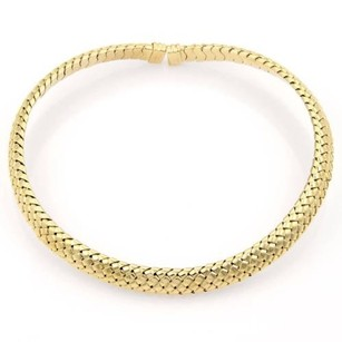 Tiffany & Co. Tiffany Co. 18k Yellow Gold Basket Weave Choker Necklace