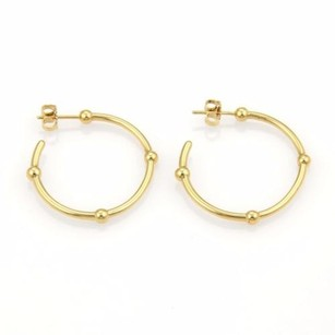 Tiffany & Co. Tiffany Co. 18k Yellow Gold Beaded Hoop Earrings