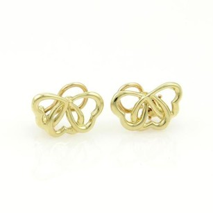 Tiffany & Co. Tiffany Co. 18k Yellow Gold Interlock Hearts Clip On Earrings