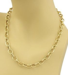 Tiffany & Co. Tiffany Co. 18k Yellow Gold Oval Clasping Link Necklace