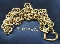 Tiffany & Co. Tiffany Co 18kt Yellow Gold Heart Link Pendant Necklace 16.5