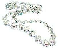 Tiffany & Co. Tiffany Co 925 Sterling Silver Italy Heart Lock Continuous Link Necklace N243