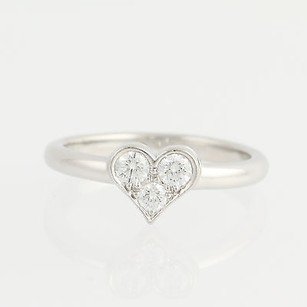 Tiffany & Co. Tiffany Co. Diamond Heart Ring- 950 Platinum Designer Hearts Collection .19ctw