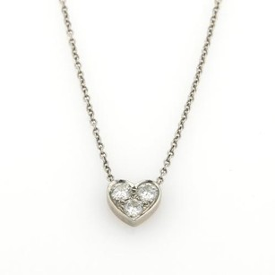 Tiffany & Co. Tiffany Co. Diamonds Platinum Heart Pendant Chain Necklace