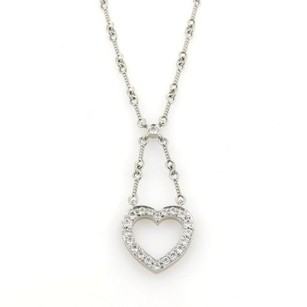 Tiffany & Co. Tiffany Co. Diamonds Platinum Heart Pendant Lariat Style Necklace