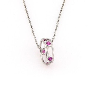 Tiffany & Co. Tiffany Co. Elsa Peretti 18k Wg Color By The Yard Pink Sapphire Pendant