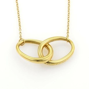 Tiffany & Co. Tiffany Co. Elsa Peretti Double Loop Pendant Necklace In 18k Yellow Gold