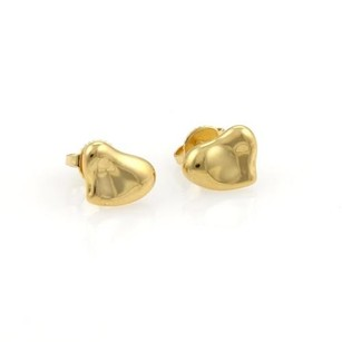 Tiffany & Co. Tiffany Co. Elsa Peretti Full Hearts 18k Yellow Gold Stud Earrings
