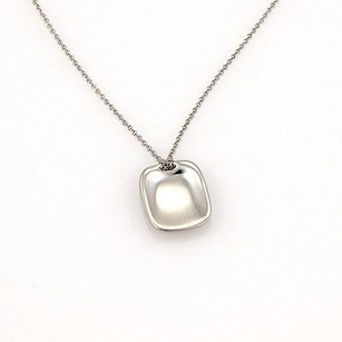 Tiffany & Co. Tiffany Co. Elsa Peretti Spain Platinum Designer Id Tag Pendant Necklace