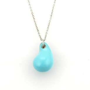 Tiffany & Co. Tiffany Co. Elsa Peretti Turquoise Teardrop Pendant Sterling Silver Necklace