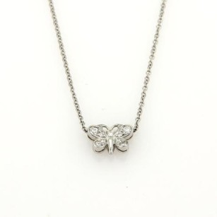 Tiffany & Co. Tiffany Co. Enchant Diamonds Platinum Butterfly Pendant Necklace