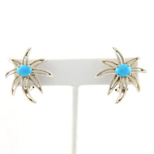 Tiffany & Co. Tiffany Co. Fireworks Turquoise Sterling Silver Clip On Earrings