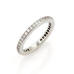 Tiffany & Co. Tiffany Co. Full Circle Diamonds Platinum Eternity Wedding Band Ring-