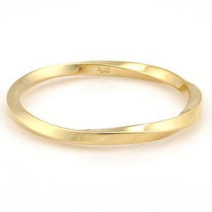 Tiffany & Co. Tiffany Co. Italy 18k Yellow Gold Designer Twist Heavy Bangle Bracelet