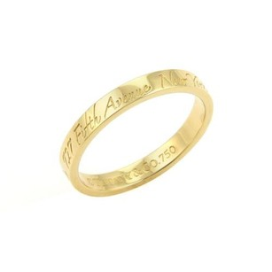 Tiffany & Co. Tiffany Co. Notes 18k Yellow Gold 3mm Wide Wedding Band Ring -