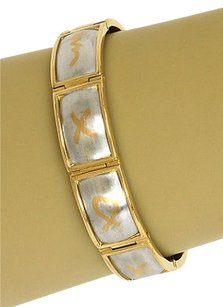 Tiffany & Co. Tiffany Co. Paloma Picasso Platinum 18k Yellow Gold Bracelet